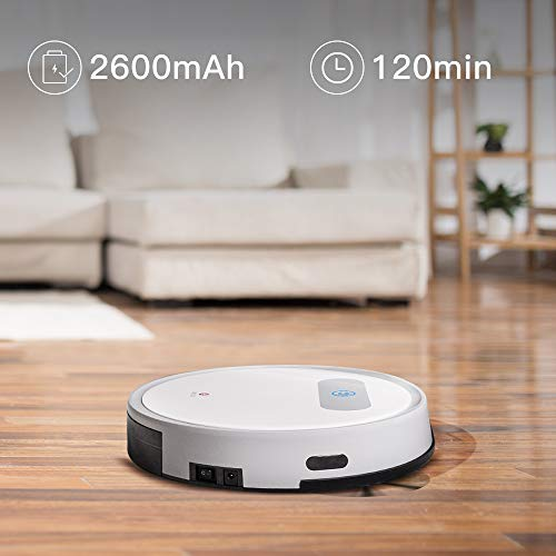 Lefant Robot Vacuum,Robotic Vacuum Cleaner, 1800Pa Power Suction, M300 Robotic Vacuums for Pet Hair, Hardwood Floors, Medium-Pile Carpets
