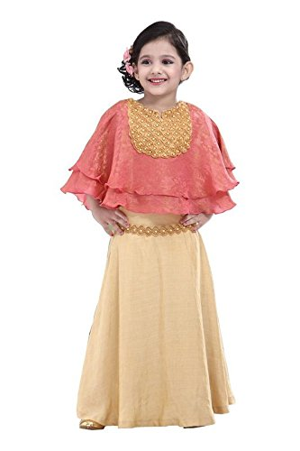 TOONYPORT Brocade and Georgette Indo,Western Dress for Girls