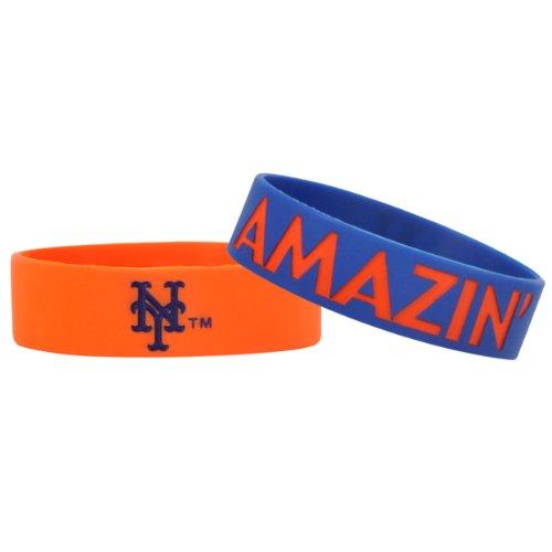 MLB New York Mets Bulky Bandz Bracelet 2-Pack