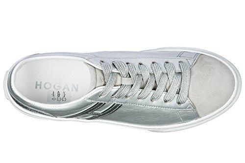 Hogan Scarpe Da Donna Scarpe Da Tennis Di Cuoio Delle Donne Scarpe Da Tennis Dargento H365