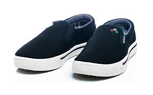 Paolla Mens 124 Slip-Ons Shoes Black ETiHQ49