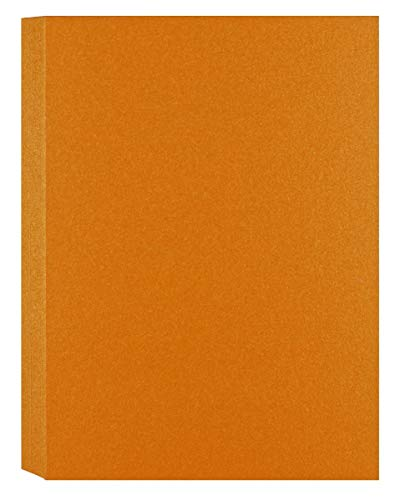 Shimmer Orange Gold A7-Insert (5-x-7) Flat Cards 50-pk - PaperPapers 290 GSM (107lb Cover) Pre-Cut Flat Cards for Tags, Cardmaking, Crafting, DIY and More -This is Small Flat Cards only