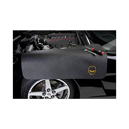 Eckler's Premier Quality Products 25-251573 Corvette Fender Cover, Black, With Embroidered