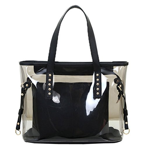with 1 in Shoulder 2 Clear Large Pt1 Work Bag Bags Tote Pouch Interior Abuyall Beach Semi 4fHwEq7x7