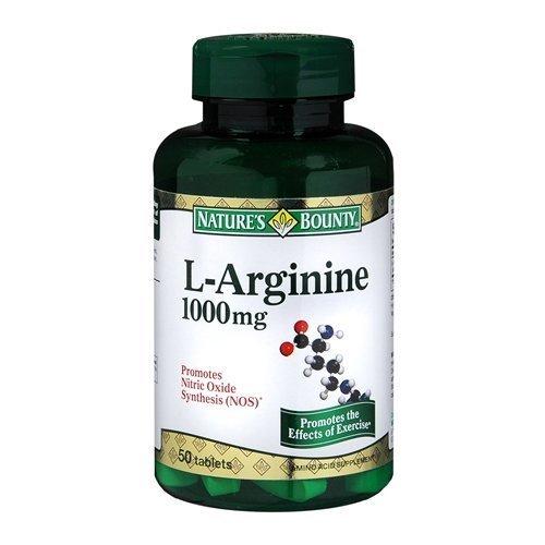 (Nature's Bounty, L-Arginine 1000 mg Amino Acid Supplement - 50 tabs, 2 Pack )