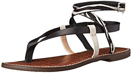 Sam Edelman Women's Garrick Gladiator Sandal, Black/Modern Ivory/Black/White, 8.5 M US