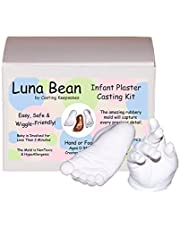 Luna Bean Infant Plaster Statue Casting Keepsake Kit - Cast Baby Hand & Foot (Clear Glaze) by Casting Keepsakes
