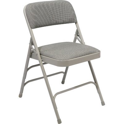 National Public Seating 2302 Steel Frame Upholstered Premium Fabric Seat and Back Folding Chair with Triple Brace, 480 lbs Capacity, Graystone/Gray (Carton of 4) (Seating Chair compare prices)