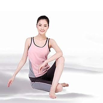 Zicac New Dance Aerobics Clothes Yoga Suit Cotton Vest Pants (M, Pink)