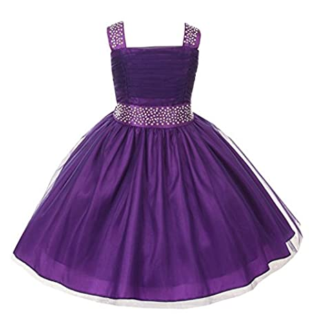 Cinderella Couture Big Girls' Sparkling Rhinestone Party Dress 8 Purple 1195 - Couture Formal Dresses