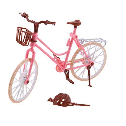 Baoblaze 1:6 Scale Dolls Bike Bicycle with Helmet Toy Pretend Playset for Barbie Doll