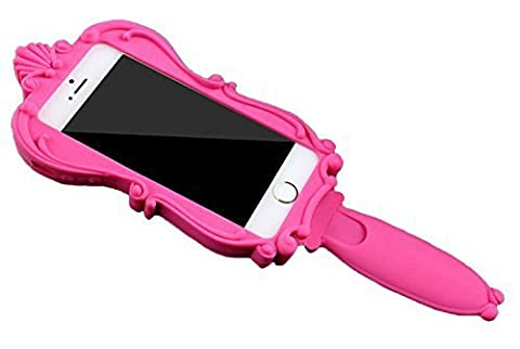 TStoy For iPhone 5 5S 5C Fashion Barbie Mirror Case Special Design Classic Edge Thick Silicone/Gel Handheld Handle Acrylic Mirror Case/Cover/Shell Lovely Hot (5s Cases Special)
