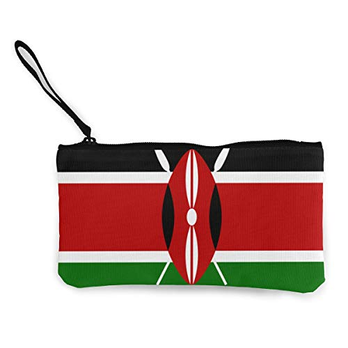 Kenya Flag Wristlet Clutch Wallet for Women Girls, Small Clutch Wallet Handbag Ladies Clutch Purse - Portable Tote Purse Travel Toiletry Bags Purse for Wedding