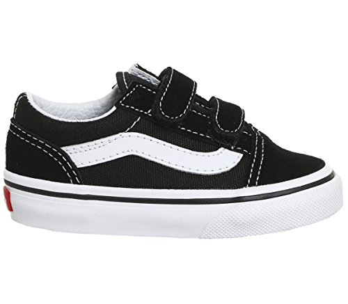 Vans Kids' Old Skool V Core (Toddler) Black/White 3.5