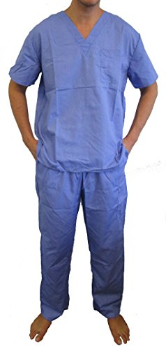 Tropi 33000M-Ceil-L Unisex Scrub Sets Medical Scrubs Mens Scrubs ()
