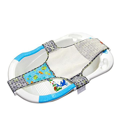 Kangaroobaby Newborn Adjustable Bath Seat Net Mesh Sling Safety Bathing Bed Support - Tub Infant Bath Net
