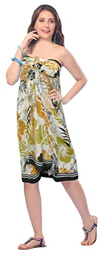 Likre Costume Fino Sarong Pollici r889 Donne Bagno Morbido da Barca Surf Coprire Mostarda Spiaggia 78x39 LA LEELA HYvwq67