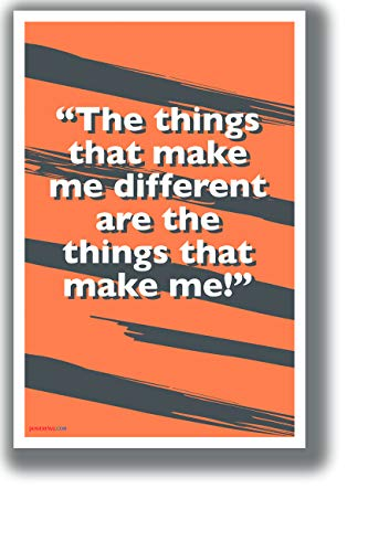 PosterEnvy The Things That Make Me Different - Tigger - NEW Motivational Classroom POSTER