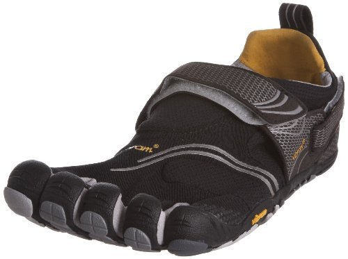 (Vibram Men's FiveFingers, KomodoSport Multi-Sport Minimalist Shoe Black Gray Yellow 4.2 M )