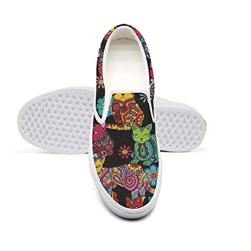 dhaskhdkl Sugar cat Sugar Kitty Mens Flat Bottom Casual Shoes Breathable Tennis -