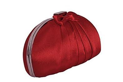 Handtasche Clutch Satin, Rot, klein, iPod, PDA Anlass