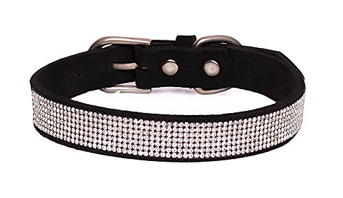 Reopet Bling Rhinestone Dog Cat Collar - Sparkly Diamond Studded Small Dog & Kitty Collar - 1/2