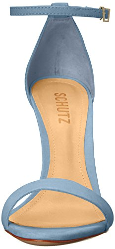 SCHUTZ Women's Cadey Lee Dress Sandal, Jeans, 9.5 M US