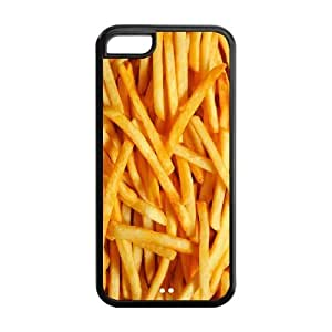 5C Phone Cases, French Fries Chips Hard TPU Rubber Cover Case for iPhone 5C