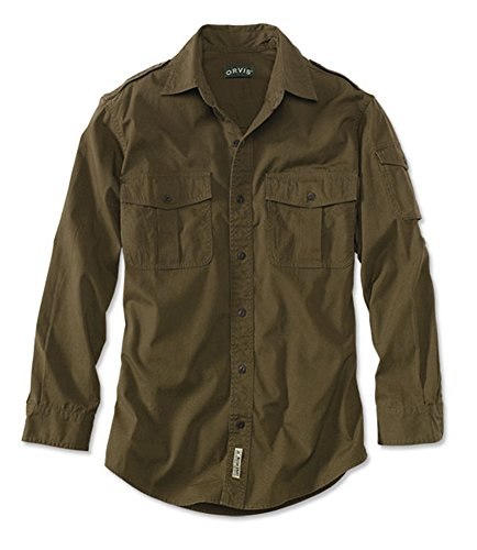 Orvis Men's Bush Shirt / Regular, Dark Olive, Medium