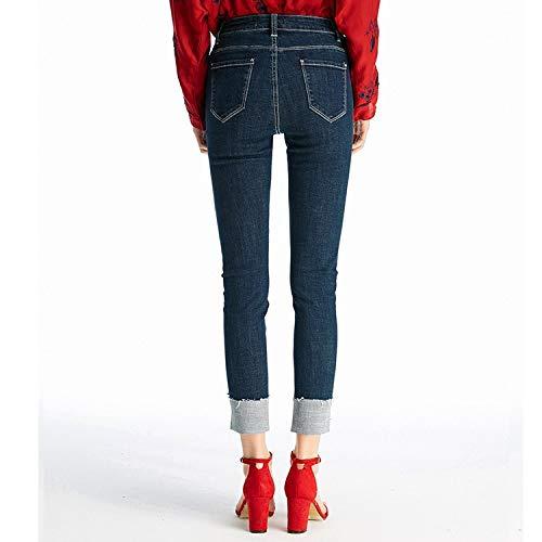 Jeans M rper Femme B MVGUIHZPO Kleine hohe Jeans Taille reparieren Taille neun Punkte Neue K Jeans und rdeln TPBqxX