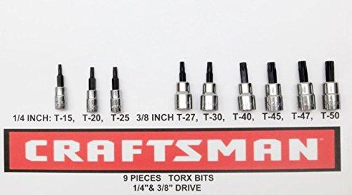Bit Torx Socket 0.25 - Craftsman 9 pc 1/4