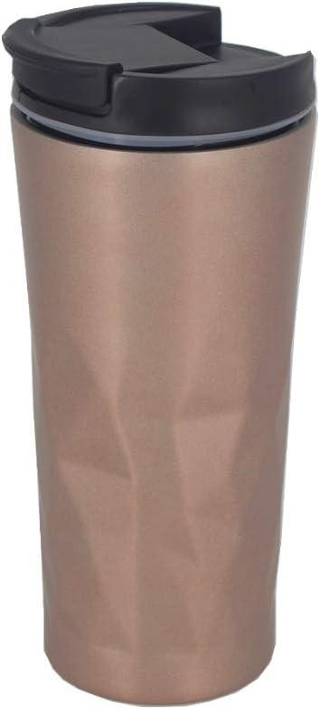 Copo Térmico em Aço Inox para Café Chá Leite - 450 ML Rose por novo seculo