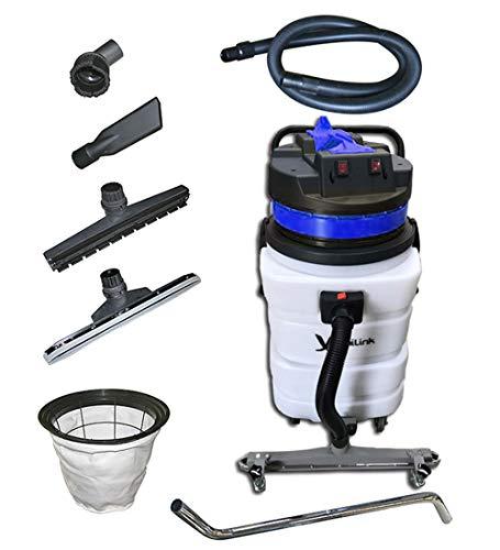 janiLink Wet Dry Vacuum W/Front Squeegee 2 Motors 24 GAL