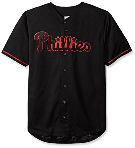 VF Philadelphia Phillies MLB Mens Majestic Black Fashion Jersey Big Sizes (XLT)
