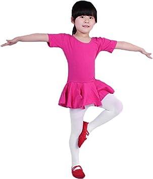 Maillot de Ballet de Manga Corta con Falda para niñas - Maillot ...