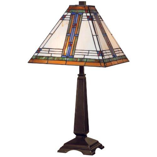 Kenroy Home 32286ORB Pratt Table Lamp, Oil Rubbed (Art Deco Bronze Table Lamp)
