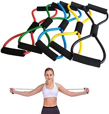 Professional Yoga Fitness Equipment Elastic Resistance Bands Tube Exercise Band