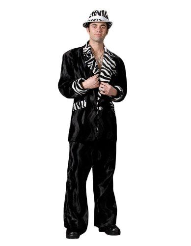 (Men's Pimp Mac Daddy Theater Costume, Black, XXLarge)