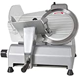 VEVOR Commercial Food Slicer Stainless Steel Cutter for Restaurants Delis Butcher Shops Catering Chains School and Factory's Canteen (10 inch Blade)