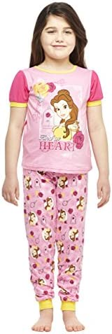 Girls 2-Piece Cotton Pajama Set,Top & Jogger P