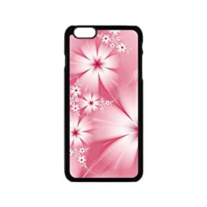 Artistic Flower Black Phone Case for Iphone6