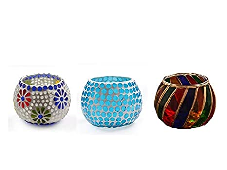 Buy ZULKA Get your traditions Multicolor Glass Tealight