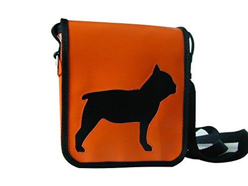 Gürteltasche Französische Bulldogge Schwarz Höhe ca. 18 cm, Breite ca. 16 cm, Tiefe ca. 4 cm