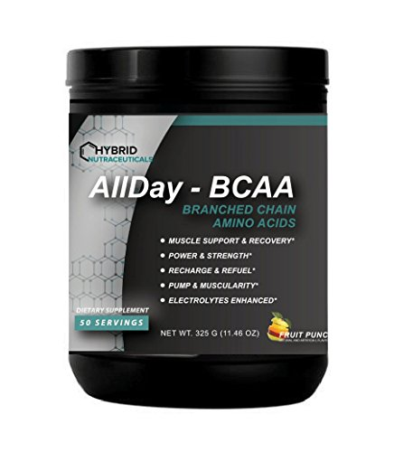 AllDAY BCAA™ Best Pre-Workout and Post Workout Supplements, Amino Acids Supplements for Endurance, Performance, and Recovery, Branched Chain Amino Acids & Electrolytes, Muscle Support & Body Building