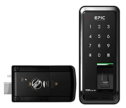 EPIC Digital Door Lock Keyless FingerPrint Pop Scan-M Black