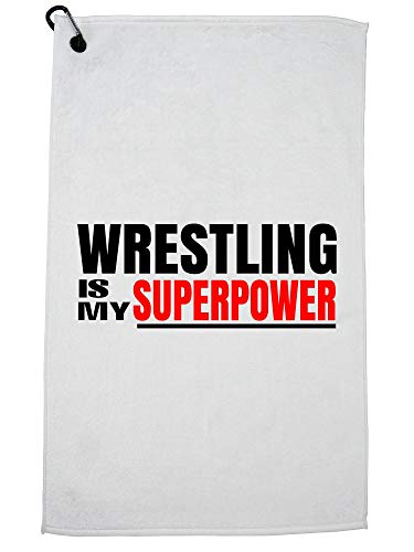 Hollywood Thread Wrestling Is My Superpower! Golf Towel Carabiner Clip by Hollywood Thread