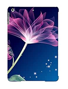 KdqNprU2401RTCJi Awesome Translucent Purple Flowers Flip Case With Fashion Design For Ipad Air As New Year's Day's Gift