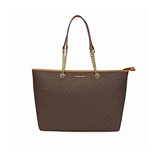 MICHAEL Michael Kors Signature Medium Multifunction Tote, Color 200 Brown w/Gold - Kors Bags Shop Online Michael