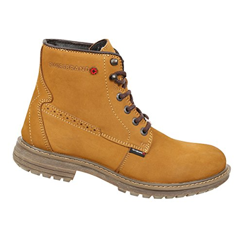 Swissbrand Mens Hiking Backpacking Up Gold Hight top and Lace Boot 7xCpwxHP