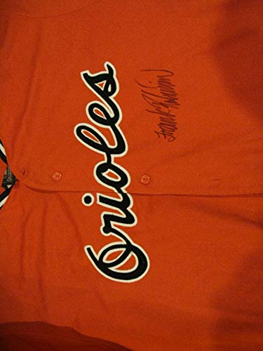 Frank Robinson Autographed/Signed Baltmore Orioles Jersey